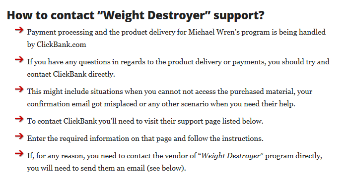 How to contact Weight Destroyer support